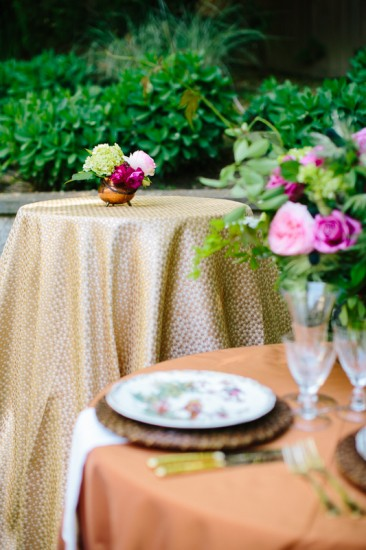 runway to table metallics wedding style