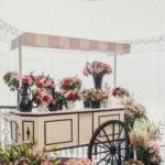 Paris inspired flower cart designed by Washington DC Planner