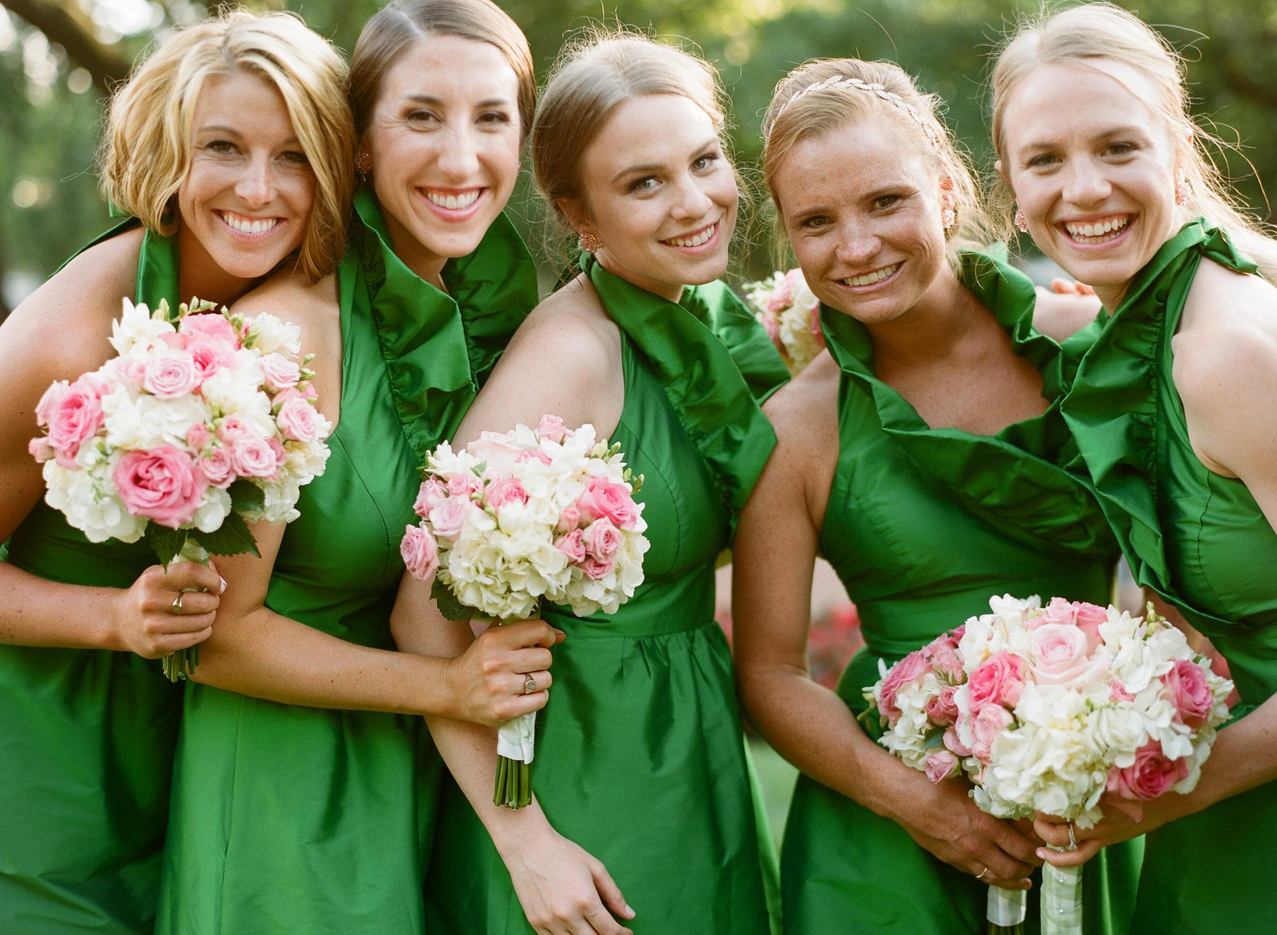 Metropolitan Club wedding preppy green
