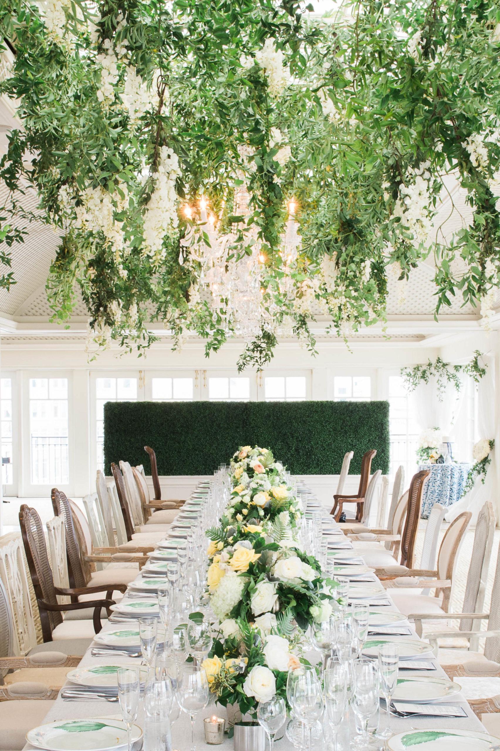 Hay Adams wedding table with garden party themed