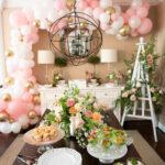 Garden themed baby girl decor